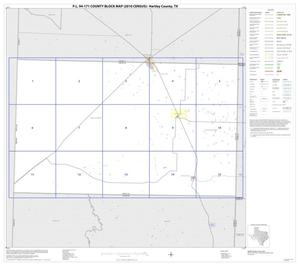 Primary view of object titled 'P.L. 94-171 County Block Map (2010 Census): Hartley County, Index'.