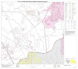Primary view of object titled 'P.L. 94-171 County Block Map (2010 Census): Montgomery County, Block 36'.