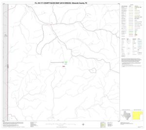 Primary view of object titled 'P.L. 94-171 County Block Map (2010 Census): Edwards County, Block 21'.
