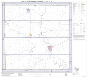 Primary view of object titled 'P.L. 94-171 County Block Map (2010 Census): Young County, Index'.