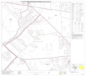 Primary view of object titled 'P.L. 94-171 County Block Map (2010 Census): Harris County, Block 29'.