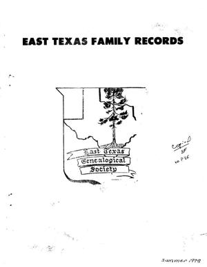 East Texas Family Records, Volume 02, Number 02, Summer 1978