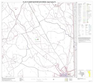 Primary view of object titled 'P.L. 94-171 County Block Map (2010 Census): Jasper County, Block 11'.