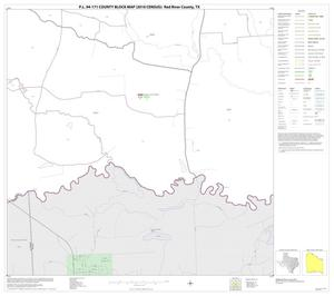 Primary view of object titled 'P.L. 94-171 County Block Map (2010 Census): Red River County, Block 34'.