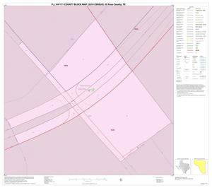 Primary view of object titled 'P.L. 94-171 County Block Map (2010 Census): El Paso County, Inset M01'.