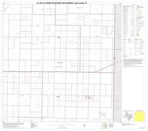 Primary view of object titled 'P.L. 94-171 County Block Map (2010 Census): Lynn County, Block 6'.