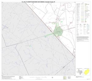 Primary view of object titled 'P.L. 94-171 County Block Map (2010 Census): Gonzales County, Block 18'.