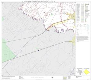 Primary view of object titled 'P.L. 94-171 County Block Map (2010 Census): Caldwell County, Block 18'.