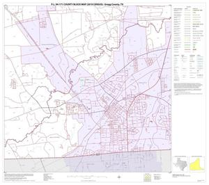 Primary view of object titled 'P.L. 94-171 County Block Map (2010 Census): Gregg County, Block 17'.