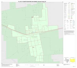 Primary view of object titled 'P.L. 94-171 County Block Map (2010 Census): Harrison County, Inset D01'.