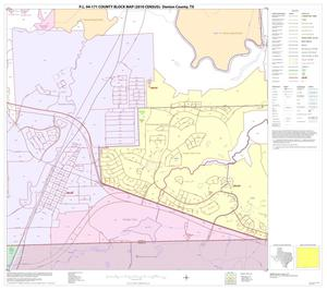 Primary view of object titled 'P.L. 94-171 County Block Map (2010 Census): Denton County, Block 84'.