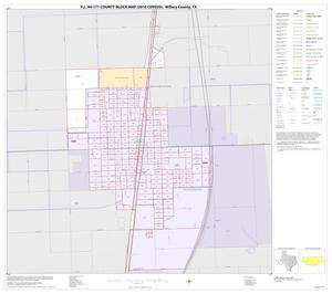 Primary view of object titled 'P.L. 94-171 County Block Map (2010 Census): Willacy County, Inset A01'.