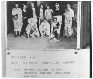 Primary view of object titled '[The Lions Club Womanless Wedding]'.