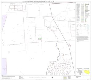Primary view of object titled 'P.L. 94-171 County Block Map (2010 Census): Harris County, Block 100'.