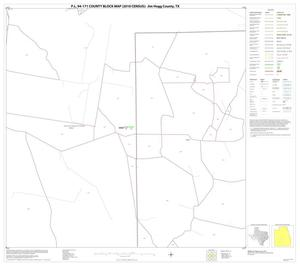 Primary view of object titled 'P.L. 94-171 County Block Map (2010 Census): Jim Hogg County, Block 15'.