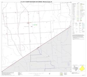 Primary view of object titled 'P.L. 94-171 County Block Map (2010 Census): Wharton County, Block 38'.