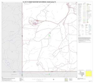Primary view of object titled 'P.L. 94-171 County Block Map (2010 Census): Uvalde County, Block 25'.