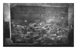 Primary view of object titled '[The Middle Panel of the Oldest Known Panorama of Mineral Wells]'.