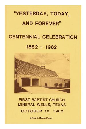 Primary view of object titled '[A Centennial Booklet of First Baptist Church]'.