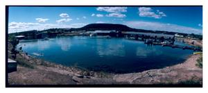 Primary view of object titled '[A Marina on Possum Kingdom Lake]'.