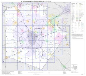 Primary view of object titled 'P.L. 94-171 County Block Map (2010 Census): Bexar County, Index'.