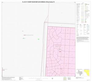 Primary view of object titled 'P.L. 94-171 County Block Map (2010 Census): El Paso County, Block 27'.