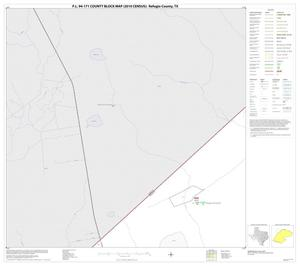 Primary view of object titled 'P.L. 94-171 County Block Map (2010 Census): Refugio County, Block 1'.