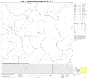 Primary view of object titled 'P.L. 94-171 County Block Map (2010 Census): Mitchell County, Block 15'.