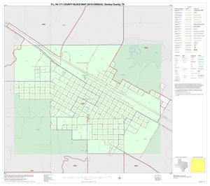 Primary view of object titled 'P.L. 94-171 County Block Map (2010 Census): Donley County, Inset B01'.