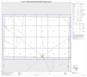 Primary view of object titled 'P.L. 94-171 County Block Map (2010 Census): Dallam County, Index'.