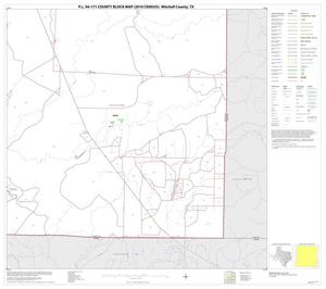 Primary view of object titled 'P.L. 94-171 County Block Map (2010 Census): Mitchell County, Block 16'.