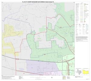 Primary view of object titled 'P.L. 94-171 County Block Map (2010 Census): Bowie County, Inset J01'.