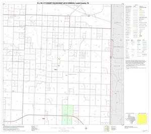 Primary view of object titled 'P.L. 94-171 County Block Map (2010 Census): Lamb County, Block 9'.