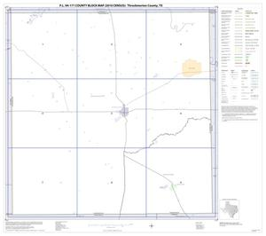 Primary view of object titled 'P.L. 94-171 County Block Map (2010 Census): Throckmorton County, Index'.