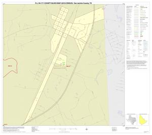 Primary view of object titled 'P.L. 94-171 County Block Map (2010 Census): San Jacinto County, Inset D01'.