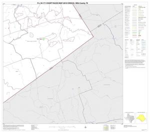 Primary view of object titled 'P.L. 94-171 County Block Map (2010 Census): Mills County, Block 13'.