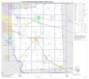 Primary view of object titled 'P.L. 94-171 County Block Map (2010 Census): Kaufman County, Index'.