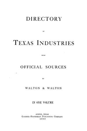 Primary view of object titled 'Directory of Texas Industries from Official Sources'.