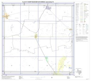 Primary view of object titled 'P.L. 94-171 County Block Map (2010 Census): Jones County, Index'.
