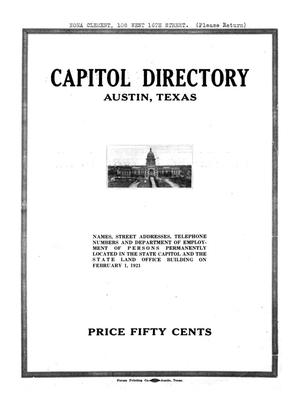 Primary view of object titled 'Capitol Directory, Austin, Texas'.