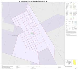 Primary view of object titled 'P.L. 94-171 County Block Map (2010 Census): Grimes County, Inset A01'.