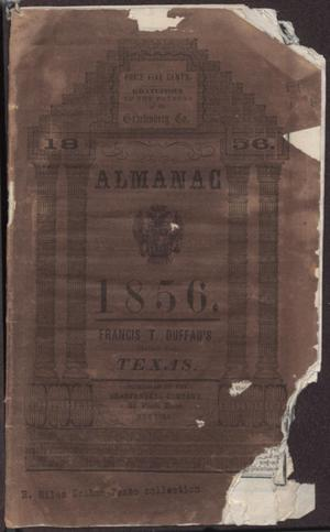 Primary view of object titled 'Almanac, 1856.'.