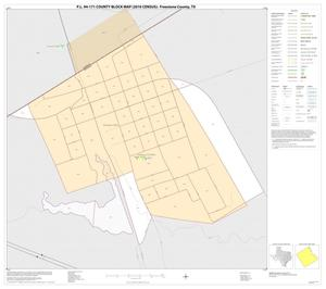 Primary view of object titled 'P.L. 94-171 County Block Map (2010 Census): Freestone County, Inset A01'.