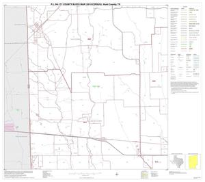 Primary view of object titled 'P.L. 94-171 County Block Map (2010 Census): Hunt County, Block 9'.