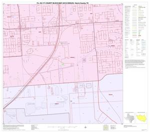 Primary view of object titled 'P.L. 94-171 County Block Map (2010 Census): Harris County, Block 257'.