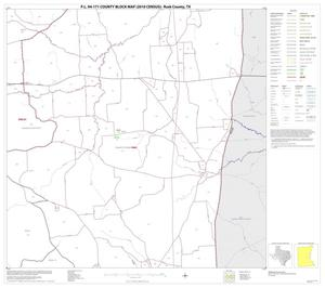 Primary view of object titled 'P.L. 94-171 County Block Map (2010 Census): Rusk County, Block 11'.