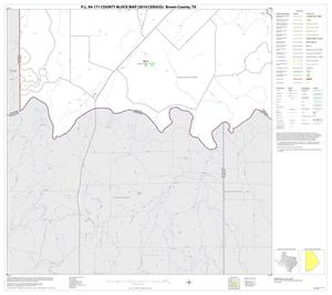 Primary view of object titled 'P.L. 94-171 County Block Map (2010 Census): Brown County, Block 18'.