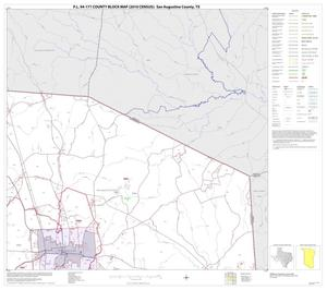 Primary view of object titled 'P.L. 94-171 County Block Map (2010 Census): San Augustine County, Block 3'.