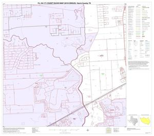 Primary view of object titled 'P.L. 94-171 County Block Map (2010 Census): Harris County, Block 159'.