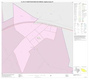 Primary view of object titled 'P.L. 94-171 County Block Map (2010 Census): Angelina County, Inset D01'.